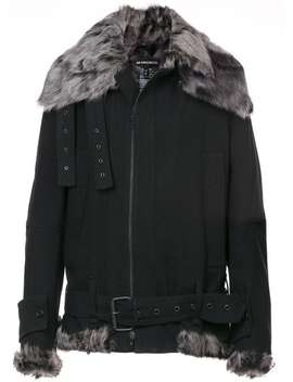 Ann Demeulemeester Fundamental Shearling Jackethome Men Ann Demeulemeester Clothing Biker Jackets by Ann Demeulemeester