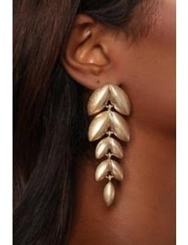 Tea Leaf Earrings   Gold by Fashion Nova