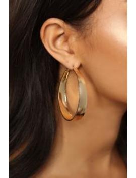 On A Flat Note Earrings   Gold by Fashion Nova