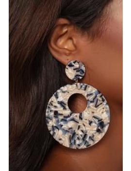 Geo Met Trick Earrings   Gold by Fashion Nova