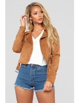 Suede Opinions Moto Jacket   Camel by Fashion Nova