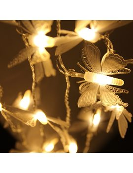Bright 5 M 20leds Dragonfly/Butterfly/Dandelion Christmas Led String Fairy Light Peach Indoor Outdoor Garden Tree Decoration by Aixy