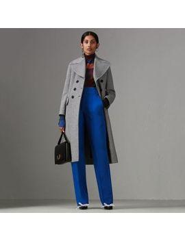 Herringbone Wool Blend Tailored Coat by Burberry