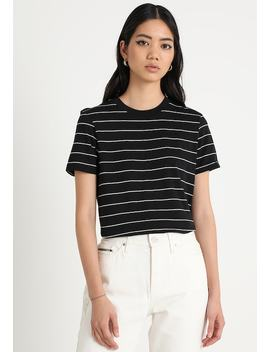 Sfmy Perfect Tee Thin Stripe   T Shirt Print by Selected Femme
