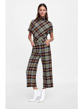 Cropped Plaid Pants  Best Sellerswoman by Zara