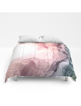 Blush And Blue Dream 1: Original Painting Comforters by