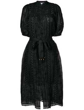 Zimmermannembroidered Belted Dresshome Women Zimmermann Clothing Day Dresses by Zimmermann