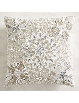 Allover Beaded Snowflake Pillow by Pier1 Imports