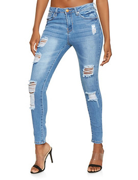 Almost Famous Destruction Skinny Jeans by Rainbow