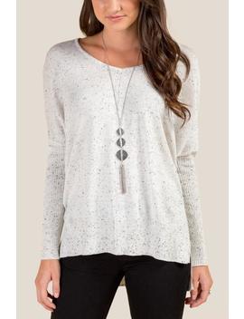 Kayla Side Slit Sweater by Francesca's