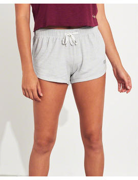 Logo Curved Hem Shorts by Hollister