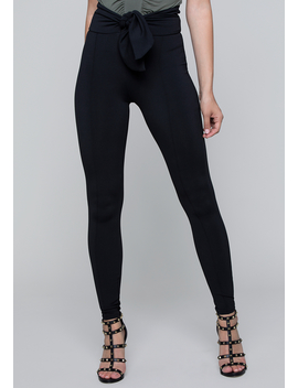 Front Tie Leggings by Bebe