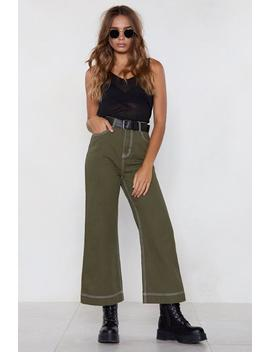 Stride In Wide Leg Jeans by Nasty Gal