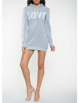 Love Graphic Sweatshirt Dress by Rainbow
