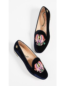 Gemini Embroidered Flats by Charlotte Olympia