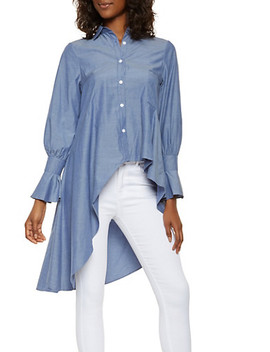 Asymmetrical High Low Shirt by Rainbow