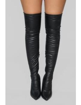 Purrfect Over The Knee Boot   Black by Fashion Nova