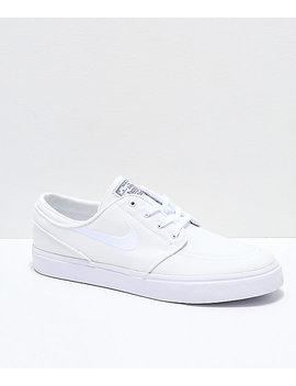 Nike Sb Janoski White Canvas Skate Shoes by Nike Sb