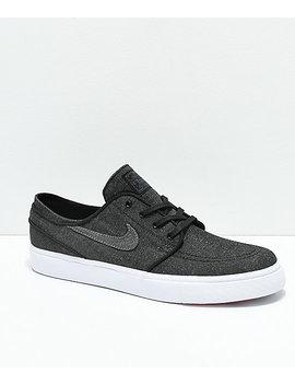 Nike Sb Janoski Anthracite & White Canvas Skate Shoes by Nike Sb