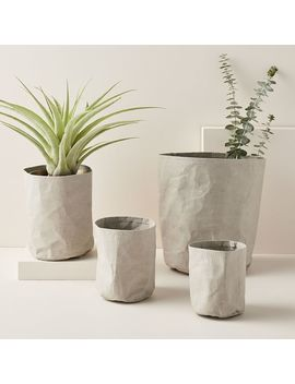 Crinkle Baskets   Gray by West Elm