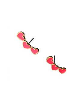 Heart Detail Stud Earrings by Romwe