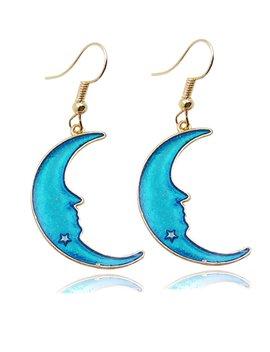 Moon Design Drop Earrings by Romwe