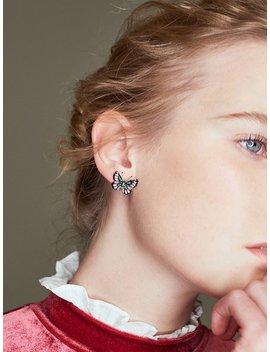Butterfly Design Stud Earrings by Romwe