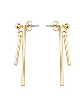 Bar Design Detachable Drop Earrings by Romwe