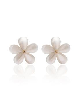 Flower Shaped Stud Earrings by Romwe
