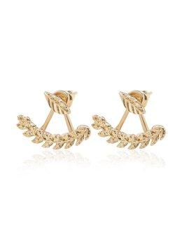 Leaf Shape Swing Stud Earrings by Romwe