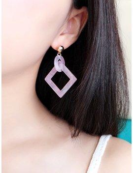 Open Square & Ring Drop Earrings by Romwe