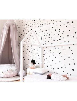 Hand Drawn Polka Dots | Irregular Spots Wall Decal Vinyl Stickers | Sets Of 165 | Baby Nursery, Boys & Girls Kids Room by Little Cooper Lane