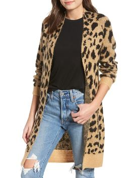 Long Leopard Jacquard Cardigan by Bp.