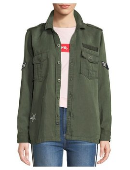 Kato Button Front Military Shirt W/ Patches by Rails