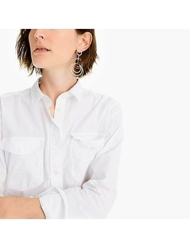 Boyfriend Utility Shirt In Cotton Poplin by J.Crew