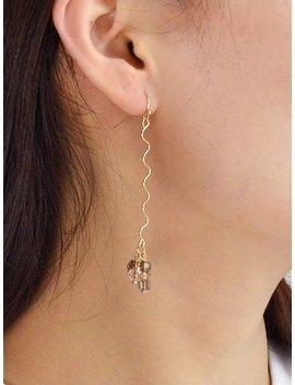 Curved Long Earrings by Romwe