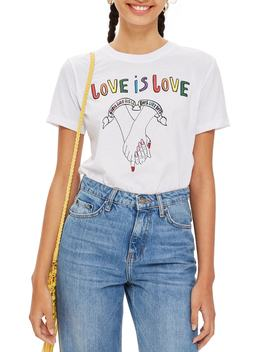 Love Is Love T Shirt by Topshop
