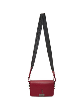 Red Mini Binder Clip Flap Bag by Off White