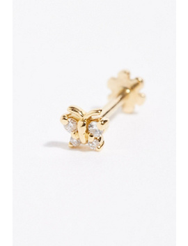 Small Butterfly Threaded Single Stud Earring by Free People