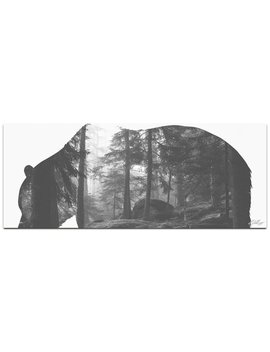 Adam Schwoeppe 'grizzly Bear Forest' Contemporary Metal Animal Silhouette Art by Generic