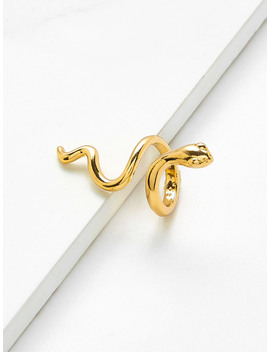 Smooth Snake Design Ring by Romwe