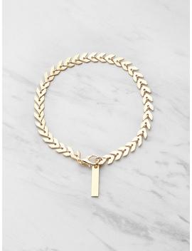 Leaf Shaped Chain Bracelet by Romwe