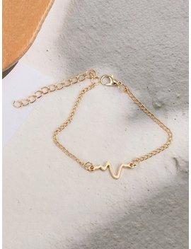 Mental Decorate Chain Bracelet by Romwe