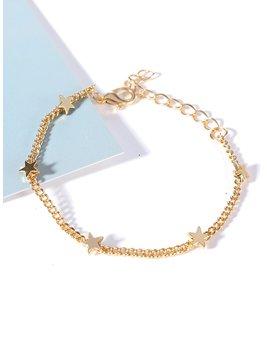 Star Charm Chain Bracelet by Romwe