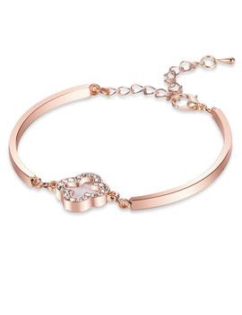 Clover Decorated Bracelet by Romwe