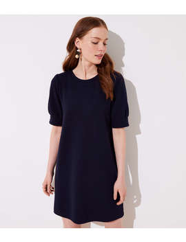 Petite Puff Sleeve Sweatshirt Dress by Loft