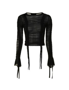 Ruched Mesh Top by Kendall And Kylie
