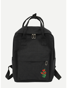 Floral Detail Satchel Backpack by Romwe