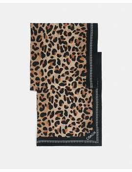 Leopard Print Scarf by Coach