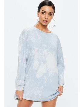 Blue Marble Wash Sweater Dress by Missguided
